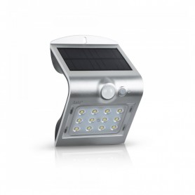 APLIQUE LED SOLAR ORB C/SENSOR 1.5W PRATA