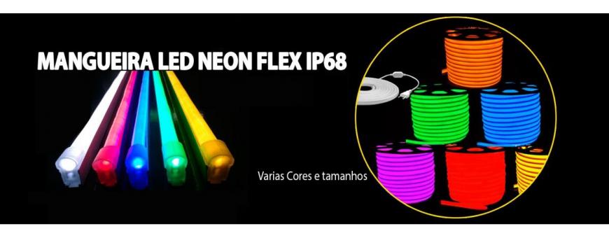 LED NEON FLEX 220V E 24V E ACESSORIOS
